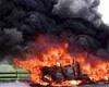 Ульяновск. Взрыв разрушил два гаража